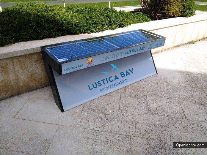 Новости Черногории: В Тивате установят первые в Черногории скамейки на солнечных батареях
