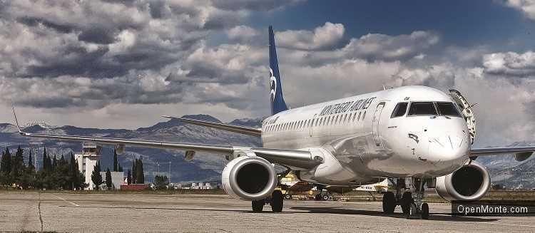Проживание в Черногории: Montenegro Airlines