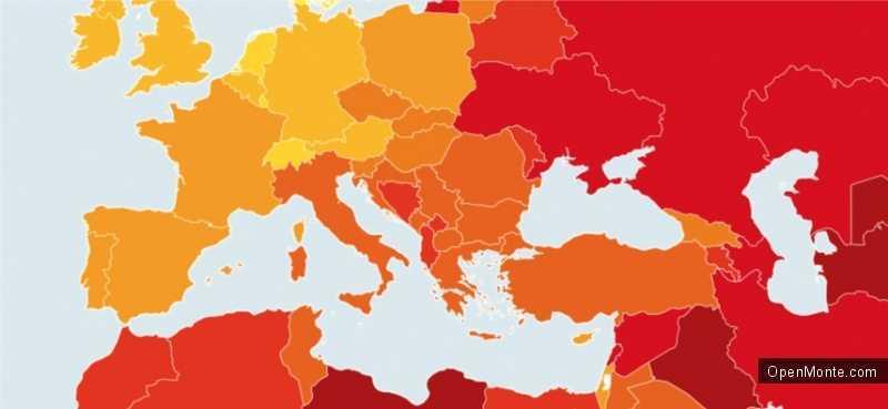 Новости Черногории: Черногория занимает 76 место по уровню коррупции