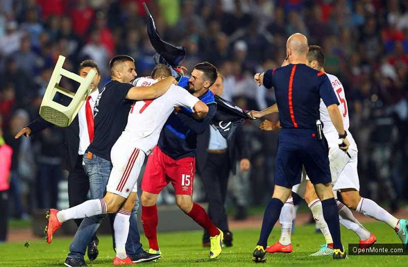 Новости Черногории: Отмена матча Сербия-Албания спровоцировала беспорядки в некоторых городах Черногории