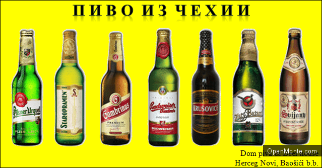Проживание в Черногории: Чешское пиво в Черногории: до конца августа бесплатная доставка!