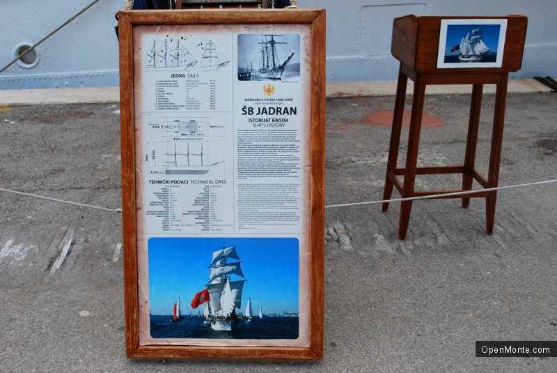 Фото Черногории: Фото с трехмачтового парусника «Ядран»