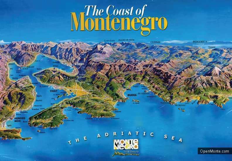 О Черногории: монтенегро на карте мира